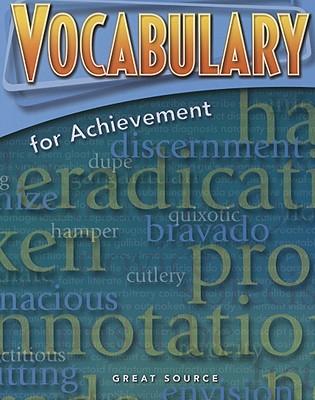 Great Source Vocabulary for Achievement By Richek, Margaret Ann
